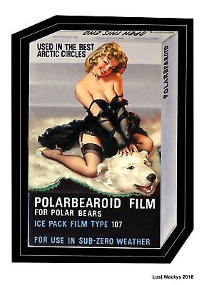 NEW Lost Wacky Packages VARIATIONS Series 3 Proof Card POLARBEAROID