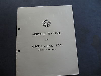 PYE Fan Model OM1 & OMI 1 SERVICE MANUAL