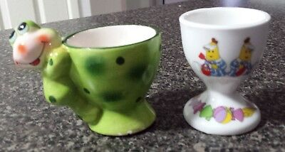 Children's Egg Cups, 1x Banana's in Pajamas & 1x Green Frog