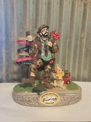 Emmett Kelly Traveling Man 421 of 5000 Century Collection Hobo Clown 1998 Signed