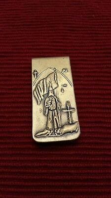 Vintage Klu Klux Klan Brass 3D Money Clip Daniel Low & Co. Salem Mass Witch