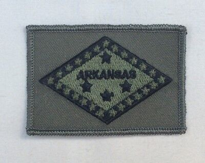 Arkansas State Flag patch OD green Embroidered Iron On