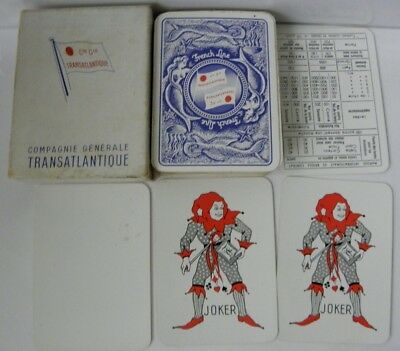 antique French Line Cie Gie Transatlantique Compagnie Generale playing cards