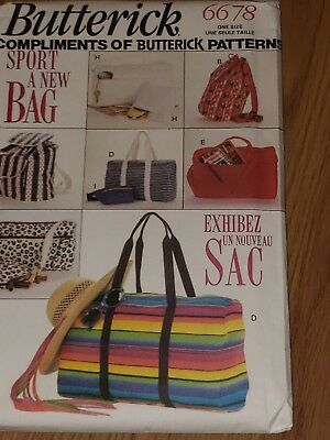 Butterick 6678 Sport Bags Duffle Tote Briefcase