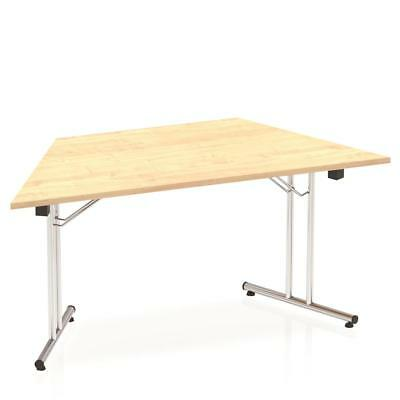 Trexus Meeting Table Trapezoidal Folding Heat-resistant Melamine 1600mm Maple -