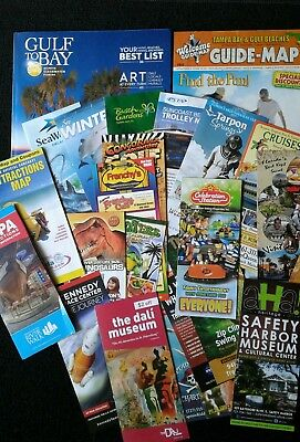 2018 Tampa Florida / Gulf To Bay Maps and Brochures Free Shipping