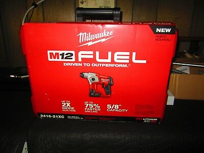 "*NEW* Milwaukee M12 FUEL 5/8"" Cordless SDS-Plus Rotary Hammer Kit (2416-21XC)"