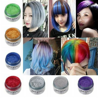 7 Colors Hair Color MOFAJANG Unisex DIY Wax Mud Dye Cream Temporary Modeling