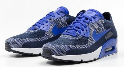 separation shoes 86966 503c1 Nike Air Max 90 Ultra 2.0 Flyknit 875943-400 COLLEGE NAVY PARAMOUNT BLUE