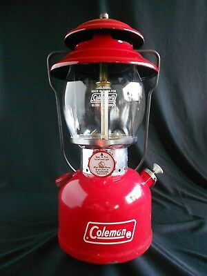 Red Coleman Lantern Model 200A 10/72 Clean Camping Lamp