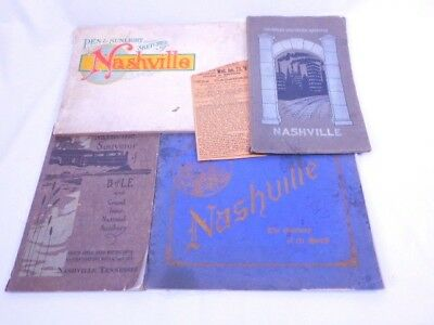 Lot of early 20th c Nashville TN Booklets Pen & Sunlight Sketches, Locomotive