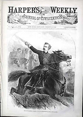 Civil War Custer Front Page Harper Weekly Us Map Huntsville Colored Troops Moon