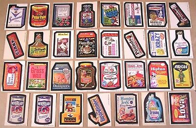 1973-74 Wacky Packages Series 3,4,5,6 LOT OF 31 STICKERS w/RUN-A-WAY No Reserve
