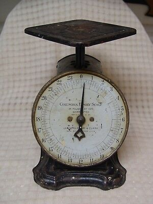 Antique Metal Columbia Family Scale Patented 1907 Landers Frary & Clark OLD
