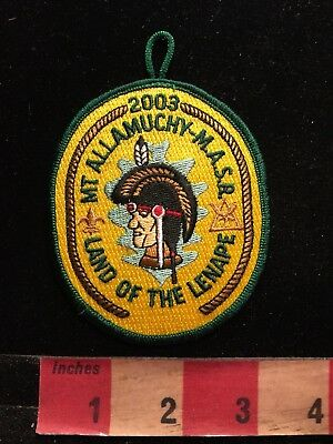 2003 Mt. Allamuchy MASR LAND OF THE LANAPE Boy Scouts Patch 87N4
