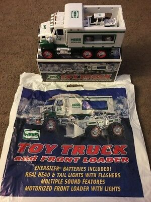 Hess Toy Truck & Front Loader 2008 W/ Box & Bag