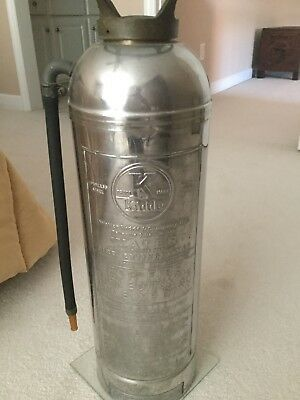 Vintage Kidde Soda-Acid Fire Extinguisher, Stainless Steel