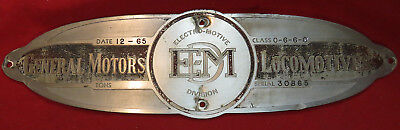 Locomotive Builders Plate - Southern Railway EMD SD35 Locomotive #3059