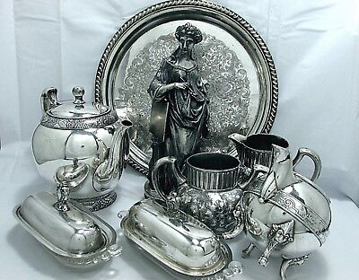 Antique Silverplate Tableware Mixed Lot Crafts Steampunk Projects Repurpose