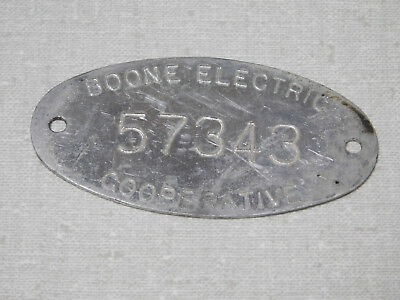 Boone Electric Cooperative Boone county Missouri aluminum name plate