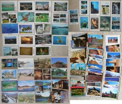 Central & South America &  RARE places!! postcards unsent unposted 4x6 #73