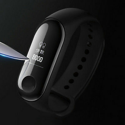 For Xiaomi Mi Band 3 Tempered Glass Belt Hole Screen Protector Film Cover 5PCS