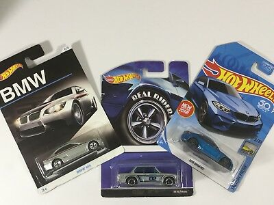 New Mattel Hot Wheels Lot of 3 BMW Diecast Car Lot: (50th & Real Riders)