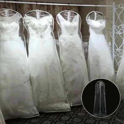Clear Wedding Dress Dust Proof Plastic Protector Bag Garments Gown Suit Storage