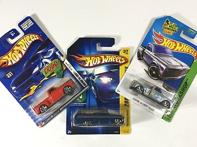 New Mattel Hot Wheels Lot of 3 Chevy Diecast Trucks: (Chevy Panel & Custom '69)