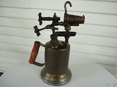 Vintage Clayton and Lambert Brass Blow Torch Double Valve 1921 Antique