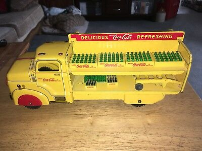 Marx Yellow Coca Cola Truck