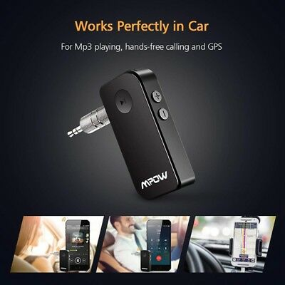 Mpow Bluetooth 4.1 Receiver Car 3.5mm AUX Stereo Wireless Audio Music Adapter TO
