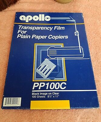 Apollo Transparency Film For Plain Paper Copiers, Clear, 85 Sheets