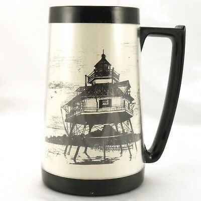 EAGLE Drum Point Lighthouse Stein Chesapeake Bay Vintage Mug ~ Made in the USA