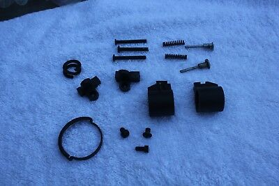 Lot of Lee Enfield rifle sights...2 front,2 flip rear, barrel band, misc parts
