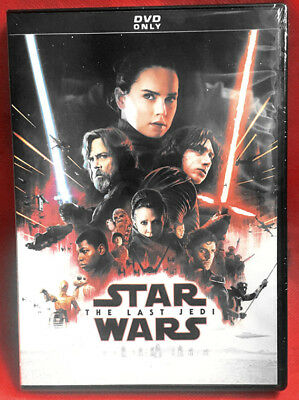 Star Wars Episode VIII The Last Jedi DVD New Free Sihpping