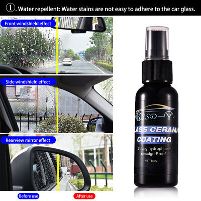 50ML Car Windshield Glass Coating Agent Super Hydrophobic Water Repellent Spray
