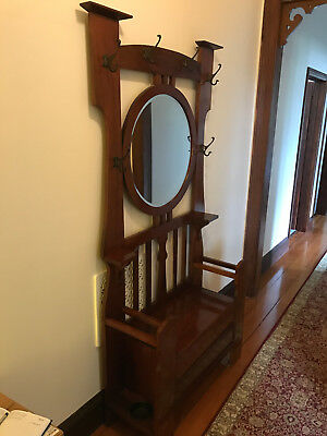 Antique Australian blackwood hall stand
