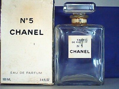 CHANEL No5 EMPTY PERFUME BOTTLE & BOX 100ml