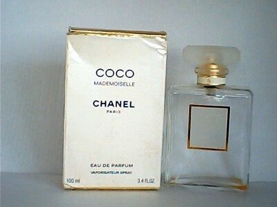 COCO MADEMOISELLE CHANEL EMPTY PERFUME BOTTLE & BOX 100ml