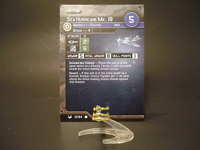 Axis and Allies War at Sea - 13/64 Sea Hurricane MkIB - Fighter (C) - UK(#9)