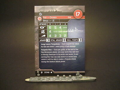 Axis and Allies War at Sea - 37/40 Oi - Cruiser (UC) - JP(#50)