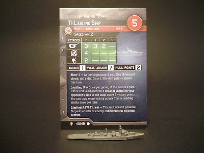 Axis and Allies War at Sea - 40/40 T1 Landing Ship - Auxiliary (C) -JP(#51)