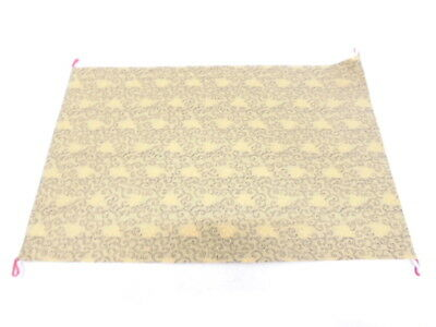 10966# Japanese Buddhist Altar Mat / Woven Flower Arabesque