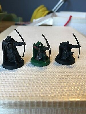 X3 Rangers Of Gondor Minas TIRITH Ithilien Rangers With Bow Metal Lotr