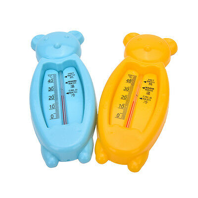 Baby Lovely Plastic Float Floating Bear Toy Bath Tub Water Sensor Thermometer LY