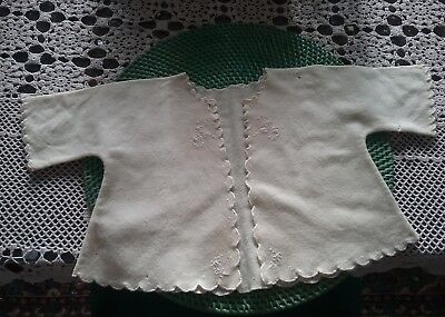 2 Vintage Baby/Toddler Jackets. Handmade Embroidered Flannelette