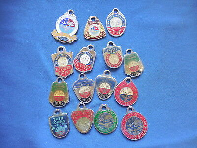 Twin Towns Member Medals Badges X 15 1967-1990
