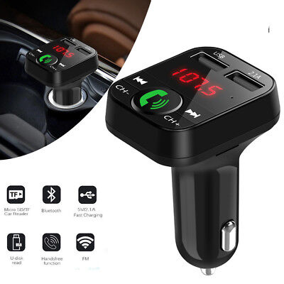 Car Kit Handsfree Bluetooth Wireless FM Transmitter MP3 Player LCD USB Charger