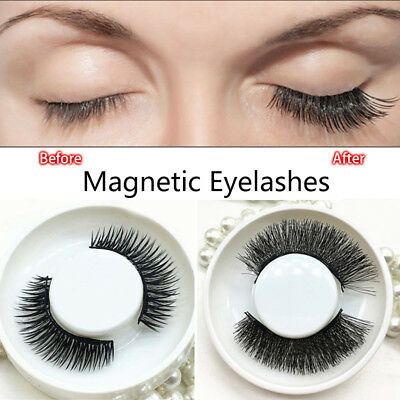 4-20 PCS Triple Magnetic 3D Eyelashes Handmade Reusable False Long Eye Lashes hi